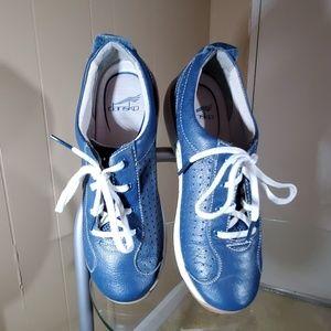 Dansko Blue Leather Walking Shoes